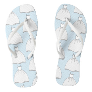 Something Blue Wedding Dress Flip Flops