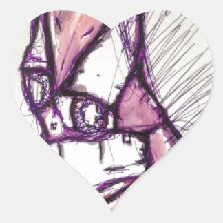 Something Disturbing Heart Sticker