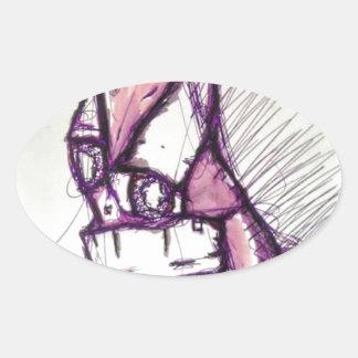 Something Disturbing Oval Sticker