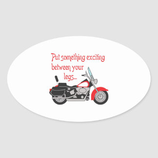 SOMETHING EXCITING OVAL STICKER