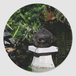 Something Fishy in the Garden Classic Round Sticker
