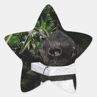 Something Fishy in the Garden Star Sticker