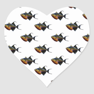 Something Fishy This Way Comes Heart Sticker