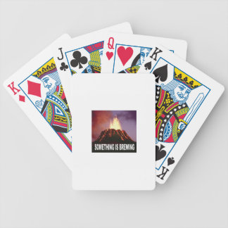 Something is brewing bicycle playing cards