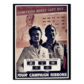 Something Money Can't Buy Your Campaign Ribbons Postcards