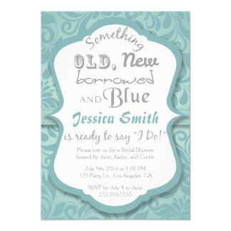 Something Old New Borrowed & Blue Bridal Shower Card