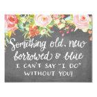Something Old New Borrowed | Bridesmaid Card