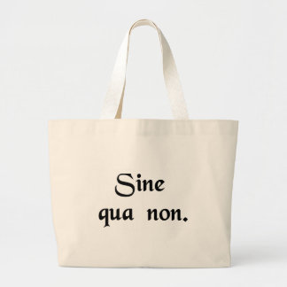 Something (or someone) indispensable. large tote bag
