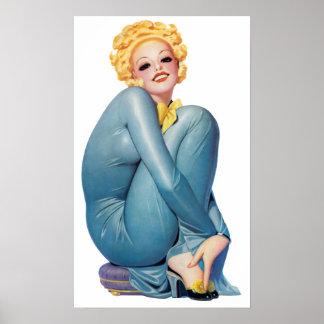 Something Snug Pin Up Girl Poster