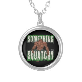 Something Squatchy Silver Plated Necklace