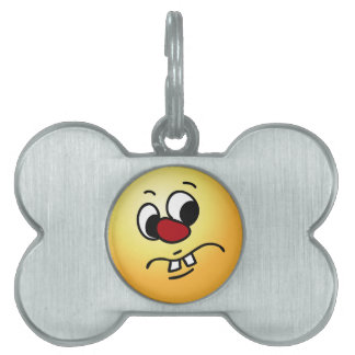 Something Stinky Smiley Face Grumpey Pet ID Tags