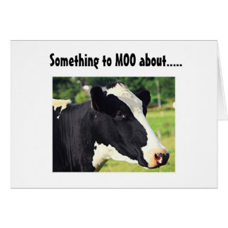 """SOMETHING TO MOO ABOUT"" YOUR BIRTHDAY CARD"