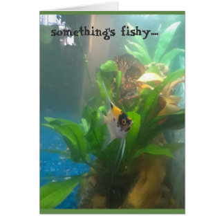 Something's Fishy Angel Fish Greeting Card