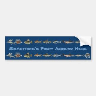 Something's Fishy Bumper Sticker 1