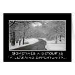 Sometimes a detour is a learning opportunity