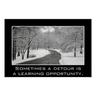 Sometimes a detour is a learning opportunity (S) Poster