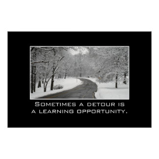 Sometimes a detour is a learning opportunity [XL] Poster