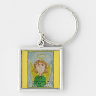 Sometimes angels are just ordinary people keychain