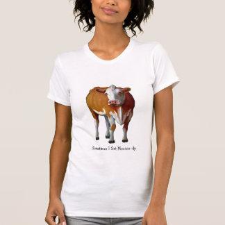 Sometimes I Get Moody: Cow: Pastel: Moo: Humor T-Shirt