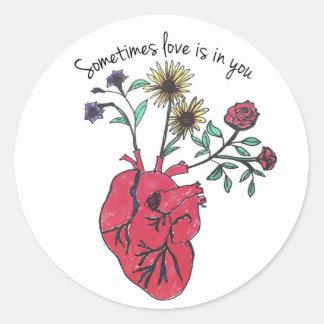 Sometimes love is in a sticker