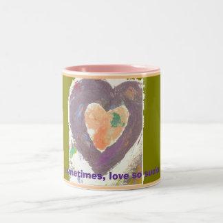 Sometimes, love so sucks Two-Tone coffee mug