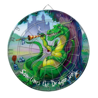 Sometimes the Dragon wins - Green Dartboard