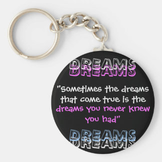 """Sometimes the dreams that come true is the , D... Keychain"
