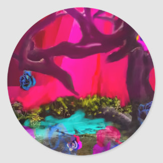 Sometimes the nature dress up classic round sticker