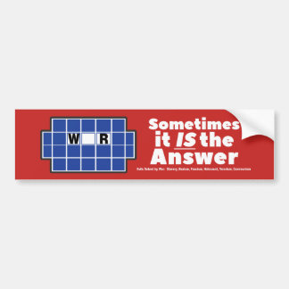 Sometimes War IS the Answer Conservative Sticker