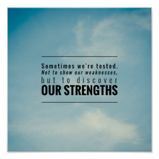 Sometimes We Are Tested Poster