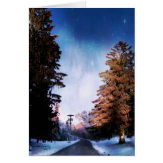 Somewhere Between the Trees Blank Card