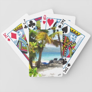 Somewhere in paradise bicycle playing cards