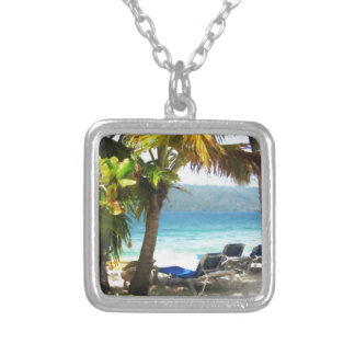 Somewhere in paradise silver plated necklace