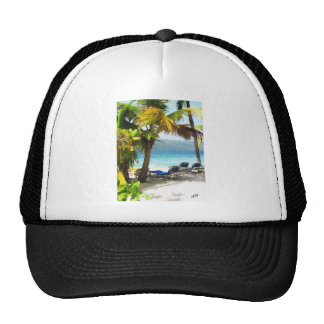 Somewhere in paradise trucker hat