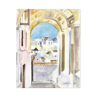 Somewhere in the Mediterranean, Watercolor Print