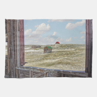 Somewhere in Time Western Barn Kitchen Towel