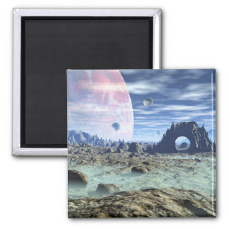 Somewhere Out There Square Magnet