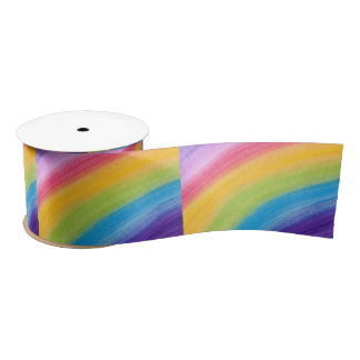 somewhere over the rainbow ribbon satin ribbon