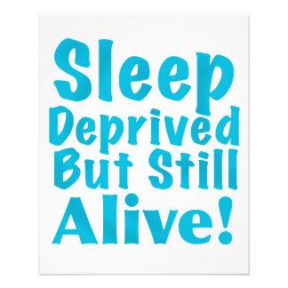 Sommeil déshérité mais encore vivant dans le bleu prospectus 11,4 cm x 14,2 cm