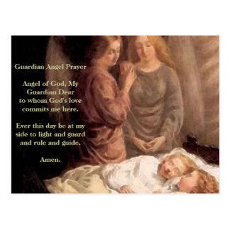 Sommeil - deux anges gardien et enfants cartes postales