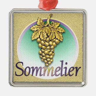 Sommelier Symbol Metal Ornament