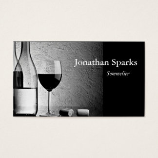 Sommelier Wine Bottle Business Card