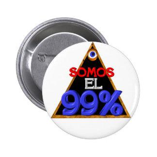 Somos el 99 Spanish We are 99 percent Pinback Button