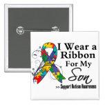 Son - Autism Ribbon Pinback Button