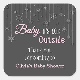 Son autocollant extérieur froid de baby shower de