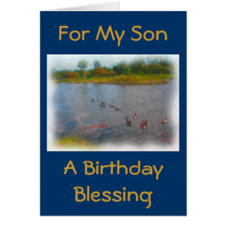 Son Birthday Blessing Card