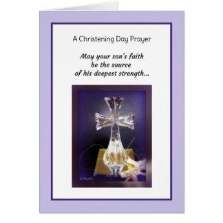 Son Christening Card