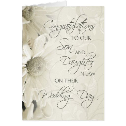 Bridal Shower Gift Daughter In Law : Son & Daughter In Law Wedding Congratulations Card Zazzle