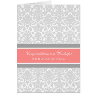 Son & Daughter In Law Wedding Congratulations Gray Card