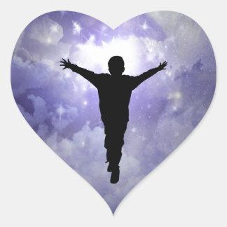 Son embrace the light heart sticker
